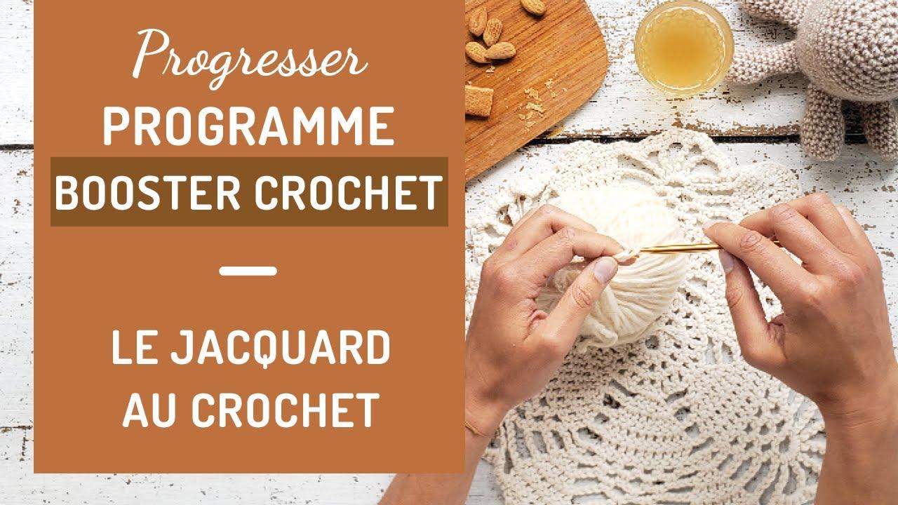 Le jacquard au crochet - Tutoriel - Crochet - YouTube