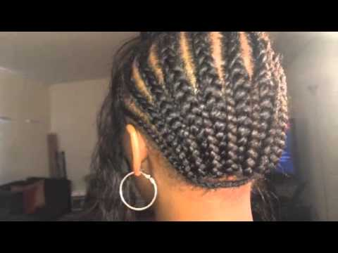 Braid Pattern For A Silk Closure Full Sew In YouTube Custom Sew In Weave Braid Patterns