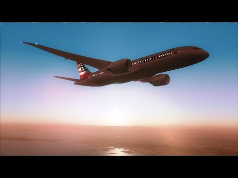 FSX 787-8 Kansai to San Diego [AMAZING REALISM+EXTREME GRAPHICS]