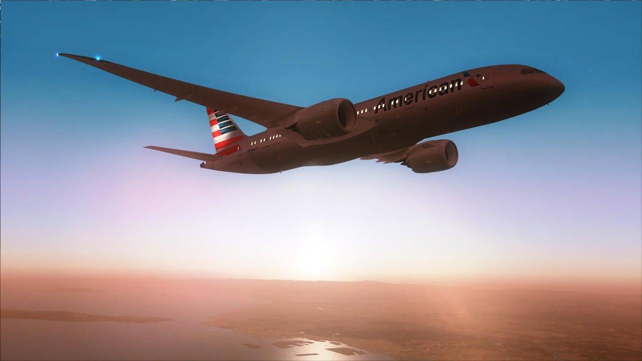 FSX 787-8 Kansai to San Diego [AMAZING REALISM+GRAPHICS]