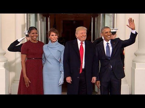 Obamas greet president elect trump at white house youtube obamas greet president elect trump at white house m4hsunfo