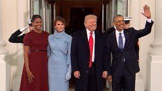 Obamas greet President-elect Trump at White House