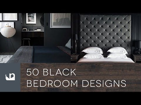 50 Black Bedroom Designs