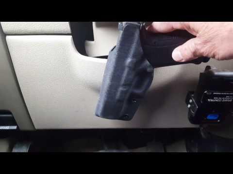 """How To Mount Your Pistol Under Steering Wheel """"EASY"""""""