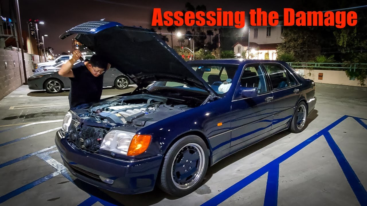Assessing the Damage on my Vandalized Mercedes