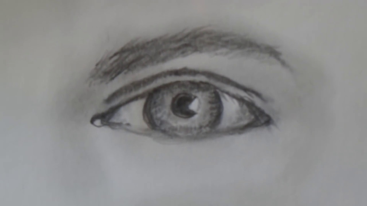 How to draw a realistic Male Eye for beginners, step by ...