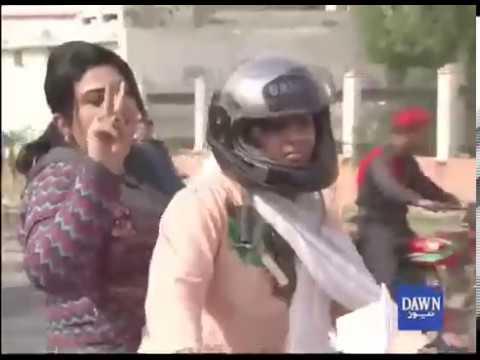 فیصل آباد میں خواتین کی موٹرسائیکل ریلی