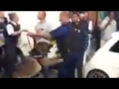 POLICE ATTACK MUSLIMS LONDON