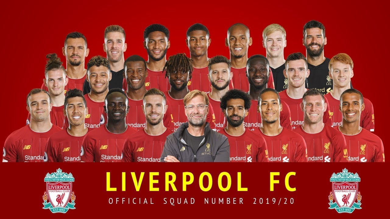 Liverpool 2019 20 Official Squad Number Premier League Youtube