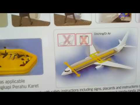 Garuda Indonesia safety instructions for passengers