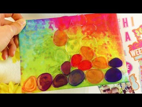 DEKO Ideen fürs Zimmer selber machen | Bunte Leinwand als Wanddeko | Coole bunte Farben + Mosaiklook