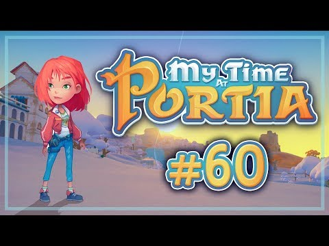 Прохождение My Time At Portia #60 Битва снежками