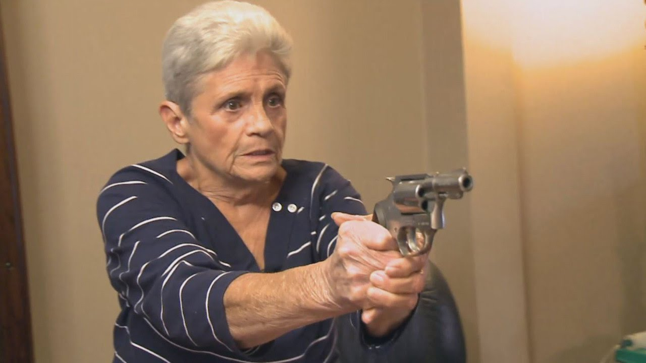 Grandma Pulls Out Pistol When Intruder Invades Her Home Youtube