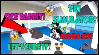 I HAVE SAD NEWS, MY RABBIT IS SICK - VET SIMULATOR | Roblox