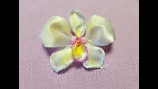 Вышивка лентами - орхидея