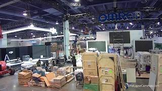 Omron Tradeshow Booth Installation at #CES2019