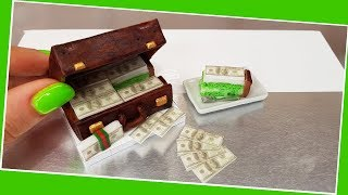 Can you eat 1 MILLION DOLLAR? $$$ :) Real cake, Jenny's mini cooking, mini food, mini cake