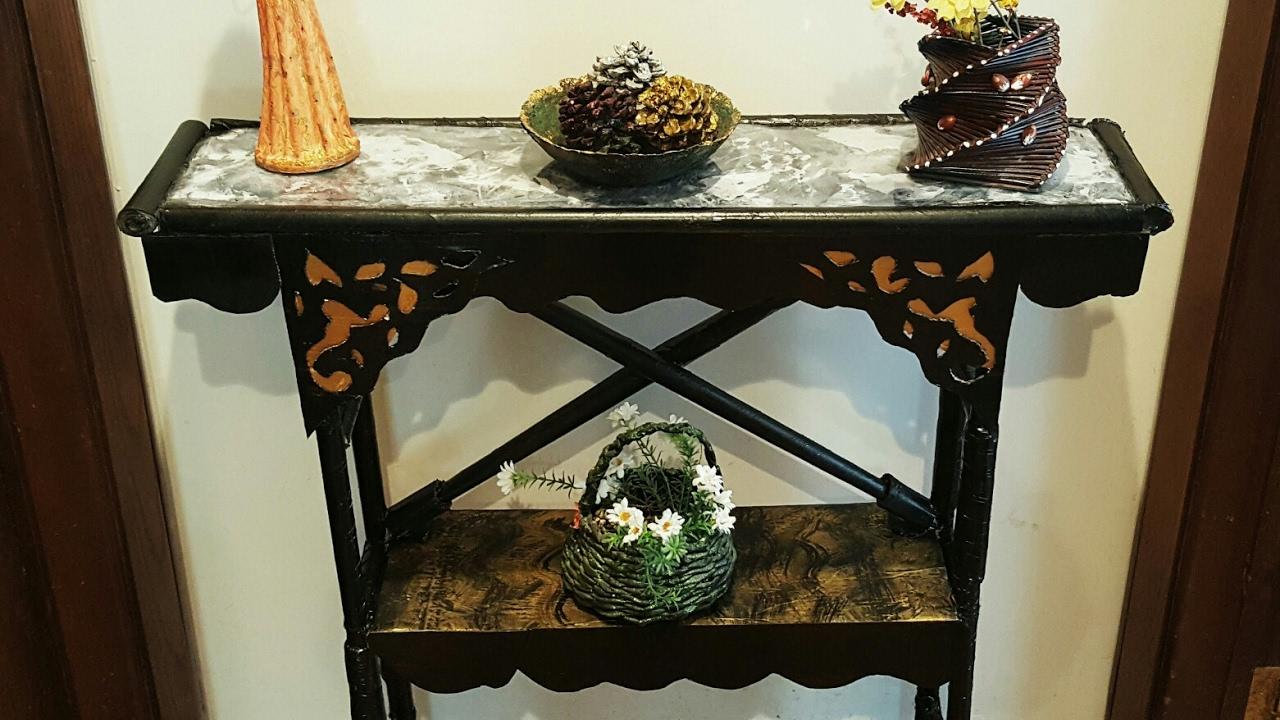 DIY CARDBOARD FURNITURE Cardboard Table Shelf Marblefaux