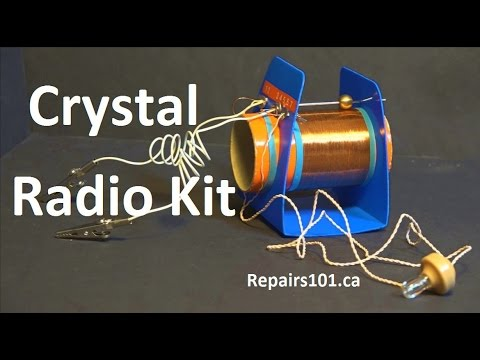 Crystal Radio Kit - your cellphone receiver