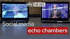 """Social media echo chambers offer """"limited tunnel vision of reality"""""""