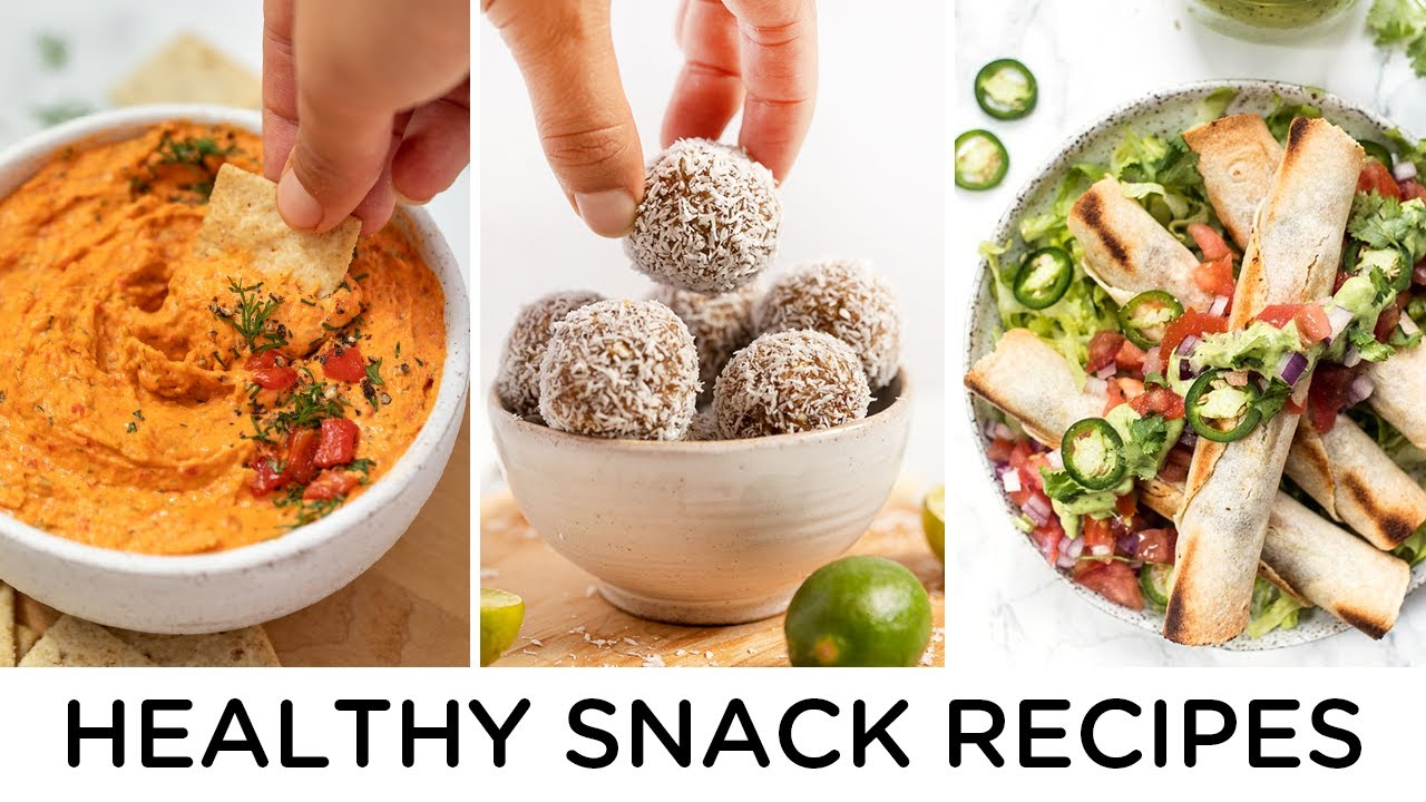 HEALTHY SNACK RECIPES ‣‣ to make at home