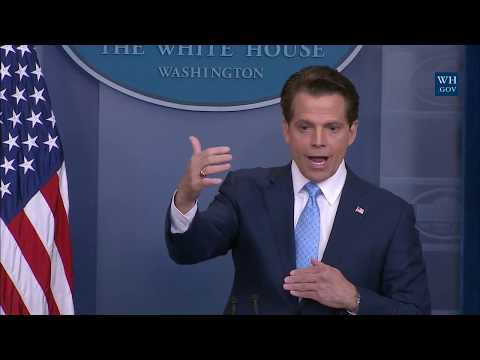 Anthony Scaramucci Takes The Podium - White House Press Briefing
