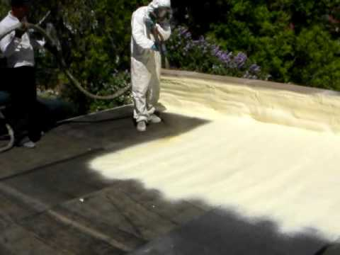 Spray Foam Roof Amp Polyurea Coating Youtube