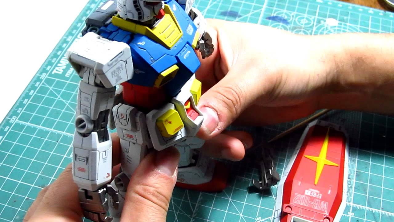 Paint And Primer >> MG RX-78-2 O.Y.W. 0079 painted/assembly - YouTube