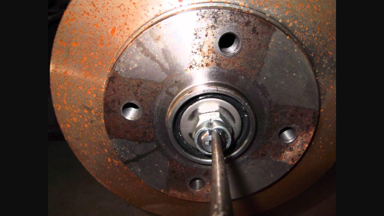 01 To 02 Kia Rio Rear Wheel Bearing Adjustment Youtube