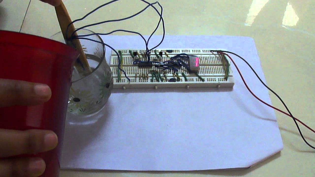 Water Level Indicator With 7 Segment Display Youtube Circuit For