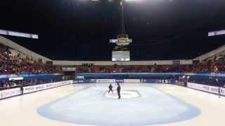 2014 ISU Short Track WC (Montréal) Women's 1000m Medal Ceremony Suk-hee Shim (Gold) Min-jeong Choi