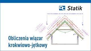 Obliczenia więźby dachowej: wiązar krokwiowo - jętkowy - kleszczowy