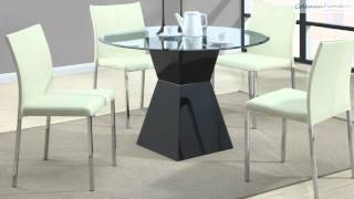 Ophelia White Round Dining Room Collection From Coaster Furniture
