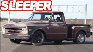 Sleeper Truck Hunts Down GSXR 1000 Bike on the Street! (1000+HP Twin Turbo)