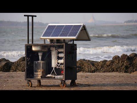 Solar Seawater Desalinator & Water Purifier Machine   Seawater to Drinking Water