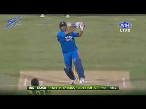 MS Dhoni 100 miter six last ball of match @ cricket crackers
