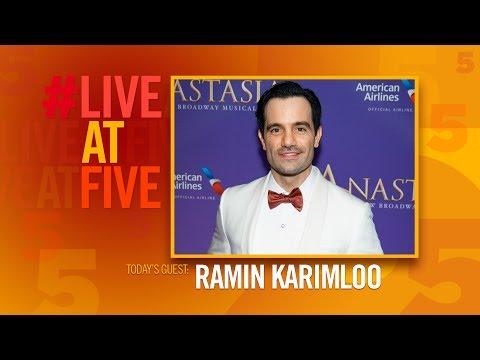 #LiveAtFive with Ramin Karimloo from ANASTASIA