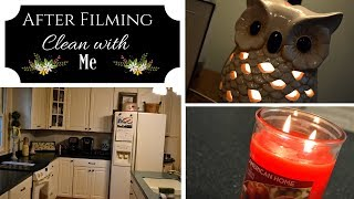 Clean with me I Cleaning Motivation I Clean after filming my cooking videos