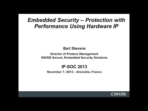 Embedded Security - Protection with Performance Using Hardware IP