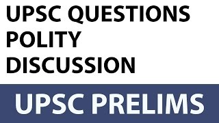 Expected questions from Constitution of India - Indian Polity