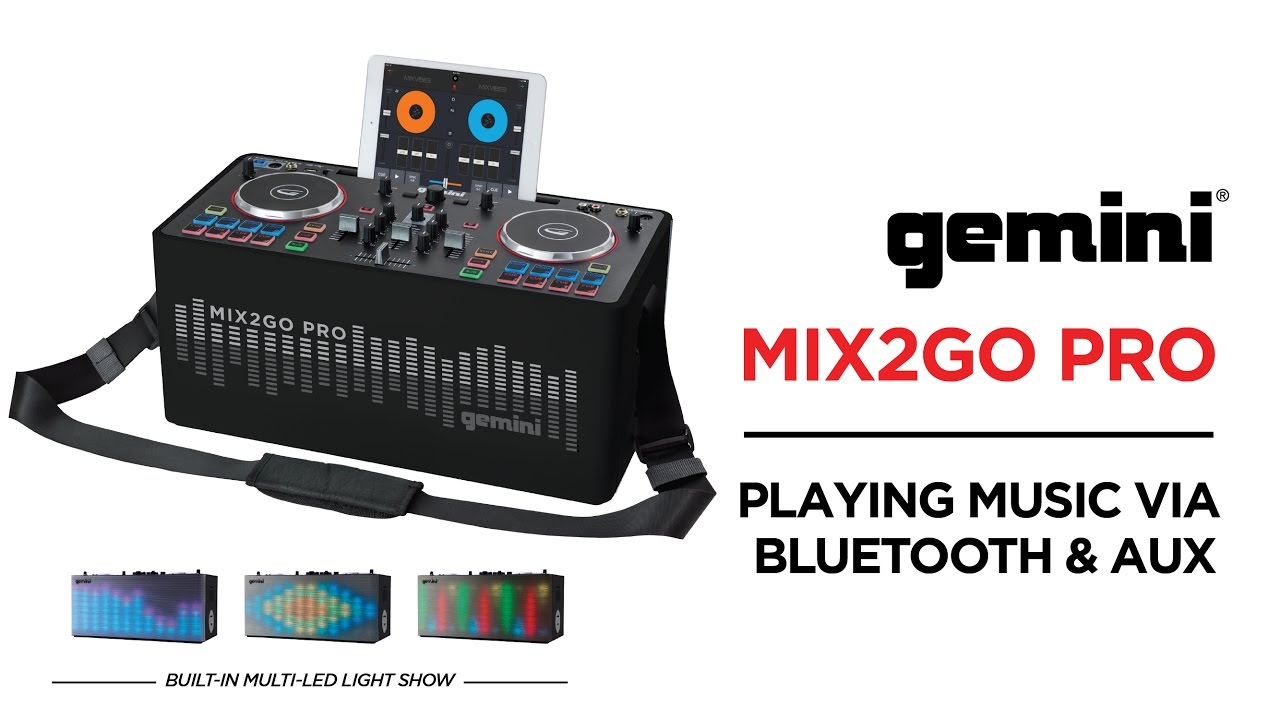 Gemini MIX2GO PRO - How to Stream Music Over Bluetooth or AUX