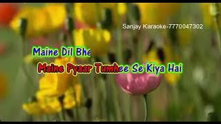 Maine pyaar tumhi se kiya hai..karaoke with female vocal