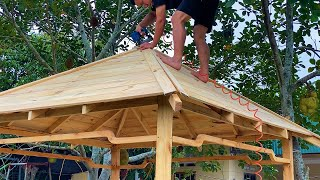 The Most Perfect Wood Recycling Project Never Seen - Garden Hut Pergola Structures for Cozy Backyard
