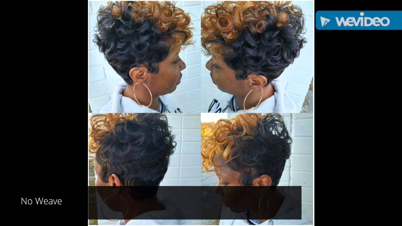 Short Pixie Cut With Curls And Waves Youtube