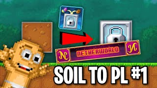 Pixel Worlds | Soil To Platinum Lock #1 | INTO THE NETHERWORLD!