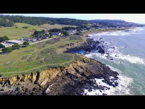 DJI Phantom 3 Drone Flight Over Moonstone Beach, Cambria And Hwy 46