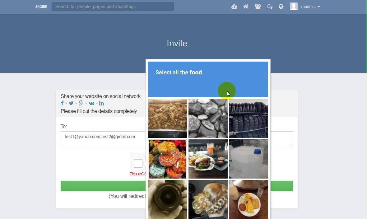 Gmail theme addon - Multiple Email Invitation Addon For Sngine V2 Created By Prashantre
