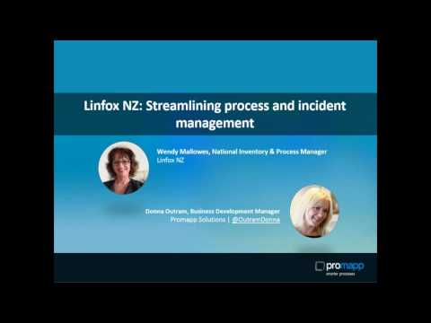 Linfox NZ  Streamlining process and incident management
