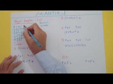 Mantık 1 Şenol Hoca Matematik