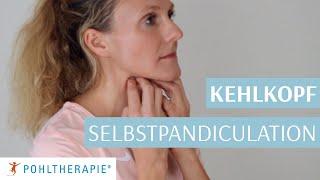Übung für einen entspannten Hals - Selbstpandiculation des Kehlkopfs